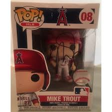 Mike Trout Autographed Los Angeles Angels Signed Baseball Funko Pop Ps Mike Trout Sports Memorabilia Major League Baseball
