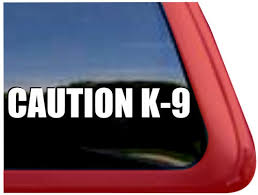 Caution K9 Decal Sticker Nickerstickers