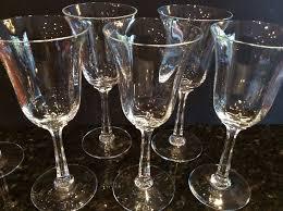 vintage lenox crystal wine glasses