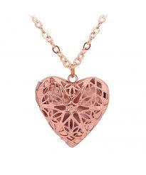 love heart photo locket pendant