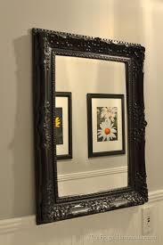 spray painted gold yard mirror