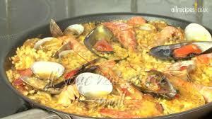 Seafood paella ...