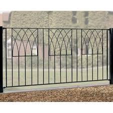 Burbage Abbey Modern Fence Panel Garden Street
