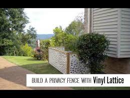 Vinyl Lattice Panels Create A Privacy Fence Youtube