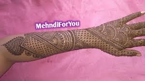mehndi design bridal full hand back side