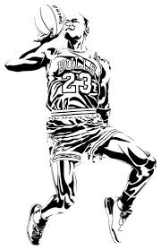 Michael Jordan Shooting Wall Sticker 44 X69 Contemporary Wall Decals By Masquevinilo