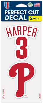 Wincraft Philadelphia Phillies Bryce Harper Perfect Cut Decal 2 Pack Dick S Sporting Goods