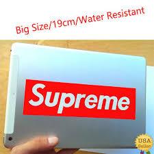 Supreme Box Logo Red Sticker Vinyl Decal Skateboard Original Nyc Bumper Laptop Parts Accessories Graphics Decals Romeinformation It