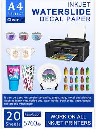 Scale Model Decal Supplies Waterslide Paper Ink Setting Solutions
