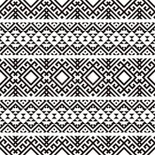tribal pattern vector black white color