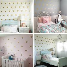 Girl Room Gold Heart Wall Stickers Baby Nursery Decal Children Boo Bootik