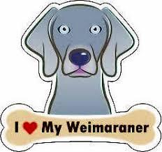 Dog Bone Sticker I Love My Weimaraner Car Sign Puppy Decal Buy 2 Get 3rd Free Ebay