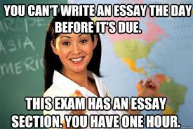 you can t write an essay the day before