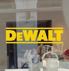 Dewalt Tools Decal Die Cut Vinyl Car Truck Window Tool Box Laptop Sponsor Model Ebay