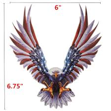 6 6 75 Inch Vinyl Car Usa Eagle Wings United States Flag Bumper Window Stickers Decal Alexnld Com