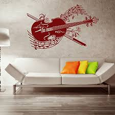Spring Melody Violin Wall Decal Music Wall Sticker Musical Vinyl Wall Art Home Decor Melody Wall Mural 3764 Royal Blue 24in X 37in Walmart Com
