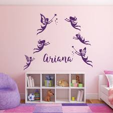 Fairy Wall Decals Personalized Vinyl Decor Wall Decal Customvinyldecor Com