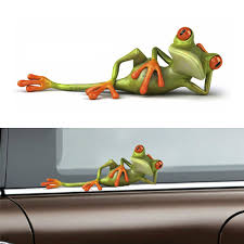 5x Large 3d Funny Frog Car Window Windshield Vinyl Decal Graphic Stickers Gifthv For Sale Online Ebay