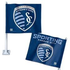 Sporting Kansas City Car Flag 11 75 X 14 By Wincraft Mo Sports Authentics Apparel Gifts
