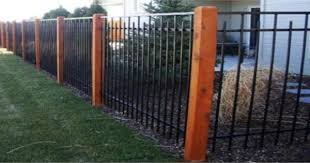 Angler Fencing Construction Home Iron Fence Wrought Iron Fences Wood Post