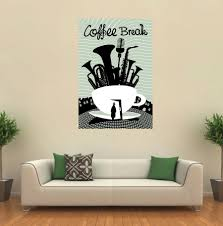 Cik303 Full Color Wall Decal Abstract Coffee Cup Kitchen Coffee Shop C Stickersforlife