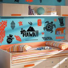 Hawaii Room Theme Decals Island Room Stickers Tiki Wall Decor Ebay