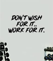 Don T Wish For It Work For It V3 Decal Sticker Wall Vinyl Art Wall Bed Boop Decals