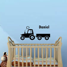 Tractor Customized Wall Sticker Boys Room Custom Kids Name Wall Decal Home Decor Living Room Custom Color Available Decals Za585 Name Wall Decals Wall Decalsstickers Boy Aliexpress