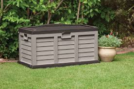resin wicker outdoor storage box