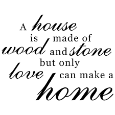 family home love quote vinyl wall decal sticker art words home