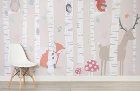 Children S Woodland Scene Wallpaper Wallpapermural In 2020 Kids Room Wall Kids Room Murals Kids Room Wall Murals