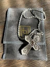 hyo silver men s cross necklace