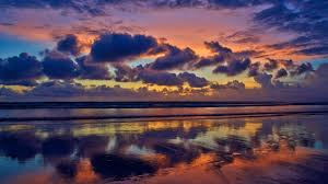 cloudy seascape evening 5k wallpapers
