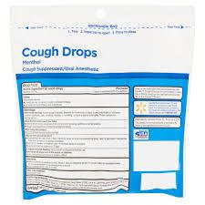 equate sugar free cough drops menthol