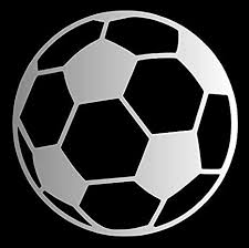 Amazon Com Soccer Ball Pick Any Color Vinyl Transfer Sticker Decal For Laptop Car Truck Window Bumper 3in X 3in Silver Arts Crafts Sewing