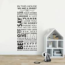 In This House Family Quote Wall Sticker Home Family Rules Vinyl Wall Decal Love Each Other Quote Wall Poster Home Decor Az262 Wall Stickers Aliexpress