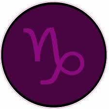 Capricorn Zodiac Symbol Purple Circle Sticker U S Custom Tees