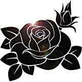 Amazon Com Black Rose Roses Vinyl Decal Car Truck Bumper Window Sticker Automotive
