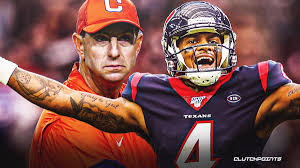 Texans news: Dabo Swinney reacts to potentially reuniting with Deshaun  Watson as Houston coach
