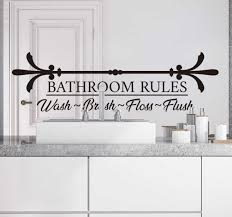 Bathroom Rules Text Wall Sticker Tenstickers