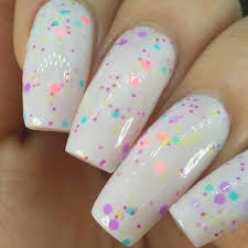 cool summer nail art design on trendy