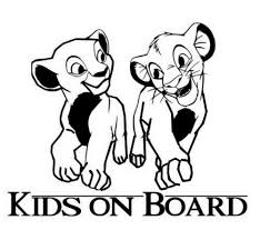 Kids On Board Lion King Sticker Vinyl Decal For Car And Others Ebay Lion King Stickers Kids Decals Disney Artwork