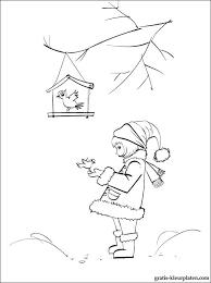 Winter Vogels Kleurplaat Gratis Kleurplaten