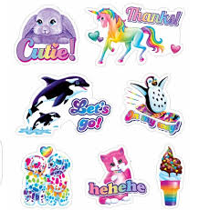 Lisa Frank Stickers Lisa Frank Stickers Cute Clipart Rainbow Art
