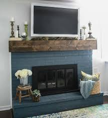 fall mantel decorating around the tv