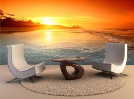 Ocean Sunrise Wall Mural Wall Decal Removable Wall Wallpaper Etsy