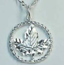 canadian maple leaf pendant charm