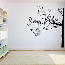 Tree Wall Decal Sticker Bedroom Tree Of Life Roots Birds Flying Away Home Decor Yoga Studiodecor A7 024 Wall Stickers Aliexpress