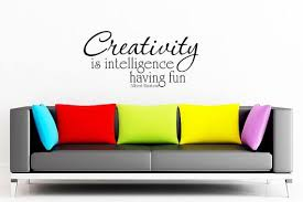 Albert Einstein Creativity Is Intelligence Having Fun Art Wall Decals Wall Stickers Custom Vinyl Wall Decals Vinyl Decals Quotes Inspirational Wall Decals