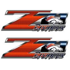 Broncos Z71 Truck Decals Chevy Silverado Denver Nfl Sticker